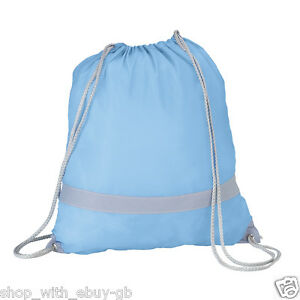 BLUE-HIGH-VISIBILITY-REFLECTIVE-GYM-BAG-PE-BOOK-SCHOOL-DRAWSTRING-RUCKSACK