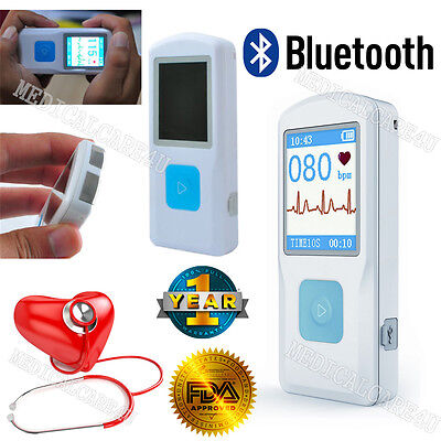Fda Handheld Ecg Ekg Monitor Electrocardiograph Bluetooth App Data Storeprint