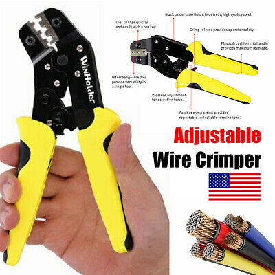 Wire Crimper Pliers Insulated Electrical Cable Connectors Terminal Crimping Tool