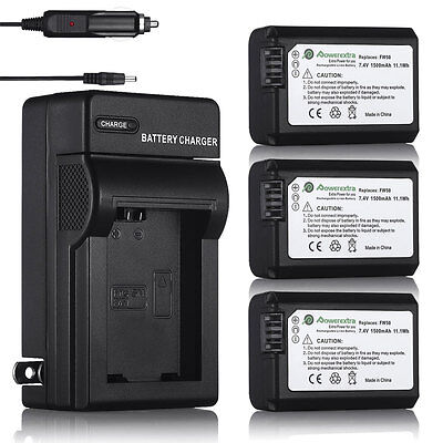 Np Fw50 Rechargeable Battery For Sony A6000 A6300 A3000 A5000 Alpha A7r  Charger