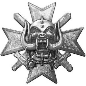Motorhead Official Bad Magic Metal Pin Badge Rock Lemmy Skull Symbol Album