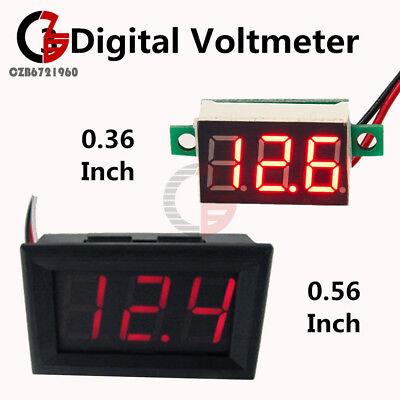 Dc 4.7-30v Volt Meter Voltmeter 2 Wire Led Panel 3 Digital Displays Red Voltage