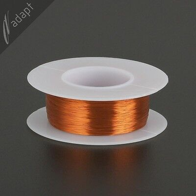 Magnet Wire, Enameled Copper, Natural, 34 AWG, Non-Solder,  200C, ~1/8lb. 988'