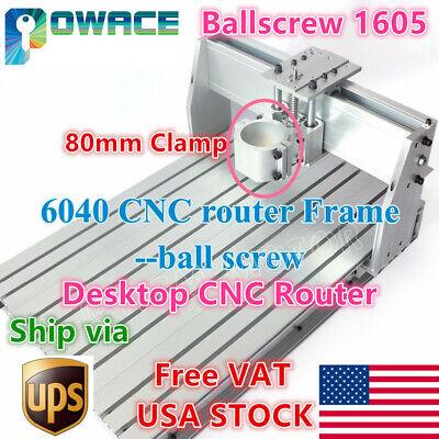 Usa6040 80mm 1605 Ball Screw Desktop Cnc Router Aluminum Milling Machine Kit