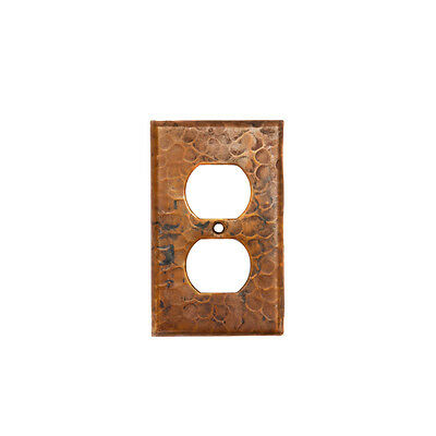 Premier Copper Products SO2 Switchplate - Single Duplex, 2 Hole Outlet Cover 2 Single Switchplate Cover