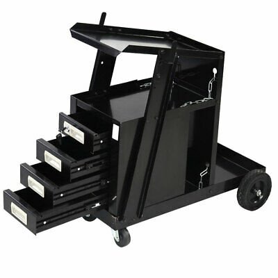 4-drawer Cabinet Welding Cart Mig Tig Arc Plasma Welding Welder Cart Trolley