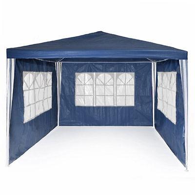 Blue3 x 3m PE Garden Gazebo Marquee Canopy Waterproof Outdoor Party Wedding Tent