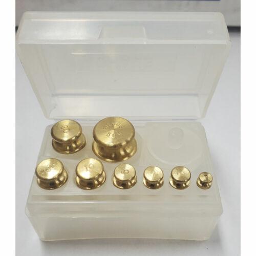 Ohaus 241-03 ASTM Class 6 Brass Weight Set - 50g x 1g