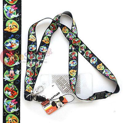 Disney Mickey Maus Freunde Schlüsselband Schlüssel Kette mit Id