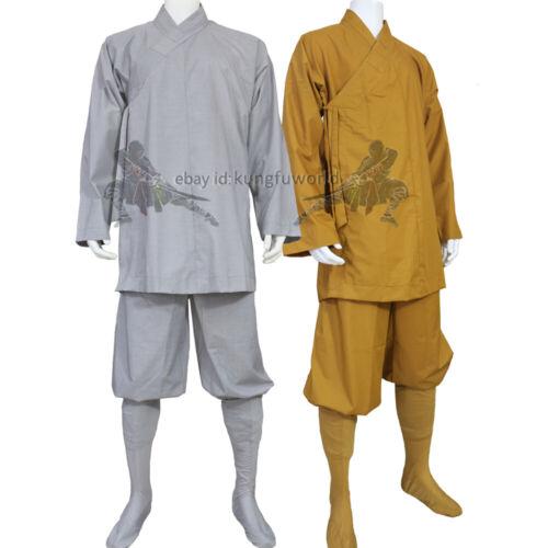 Shaolin Monk Kung fu Uniform Buddhist Robe Meditation Wing Chun Tai chi Suit