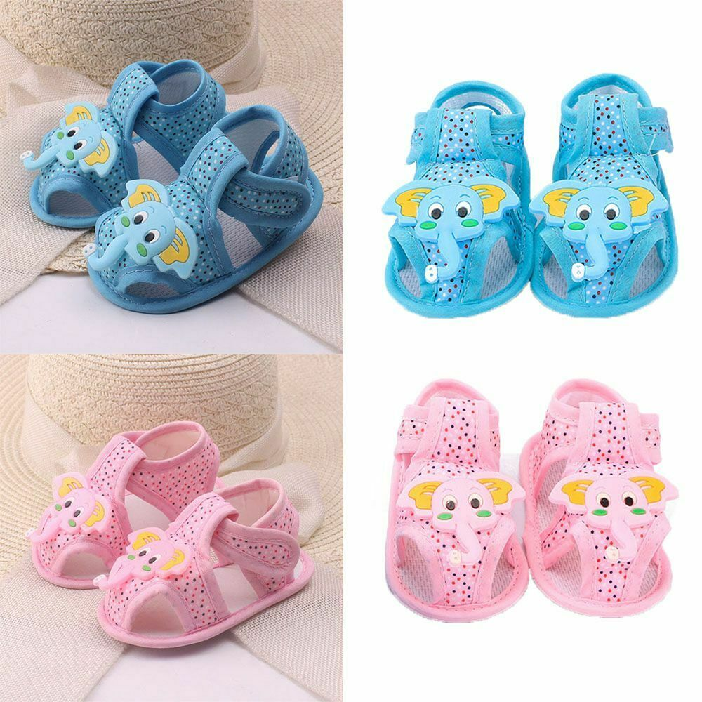 Infant Elephant Pattern Summer Soft Sole Shoes Toddler Sandals For Baby Boy Girl