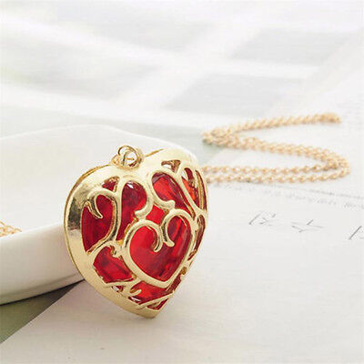The Legend Of Zelda Skyward Sword Heart Container Necklace Pendant Anime Chains