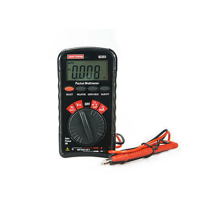 Craftsman Mini Pocket Multimeter With Auto Ranging 82351 In Package