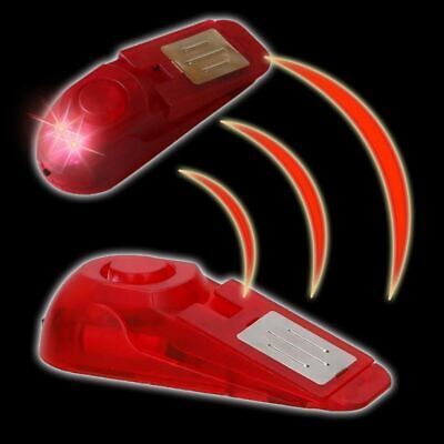 Türstopper Alarm mit 2 LED's 100 dB Türkeil Türsicherung Sichert Türen Türhalter