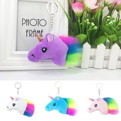 Trendy Toys (Trendy Plush Unicorn Keychain Bag Car Key Ring Charm Pendant Stuffed Toy Doll)