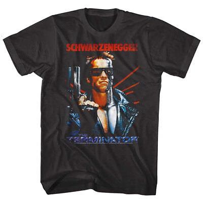 OFFICIAL Terminator Men's T-Shirt Movie Poster Schwarzenegger Black