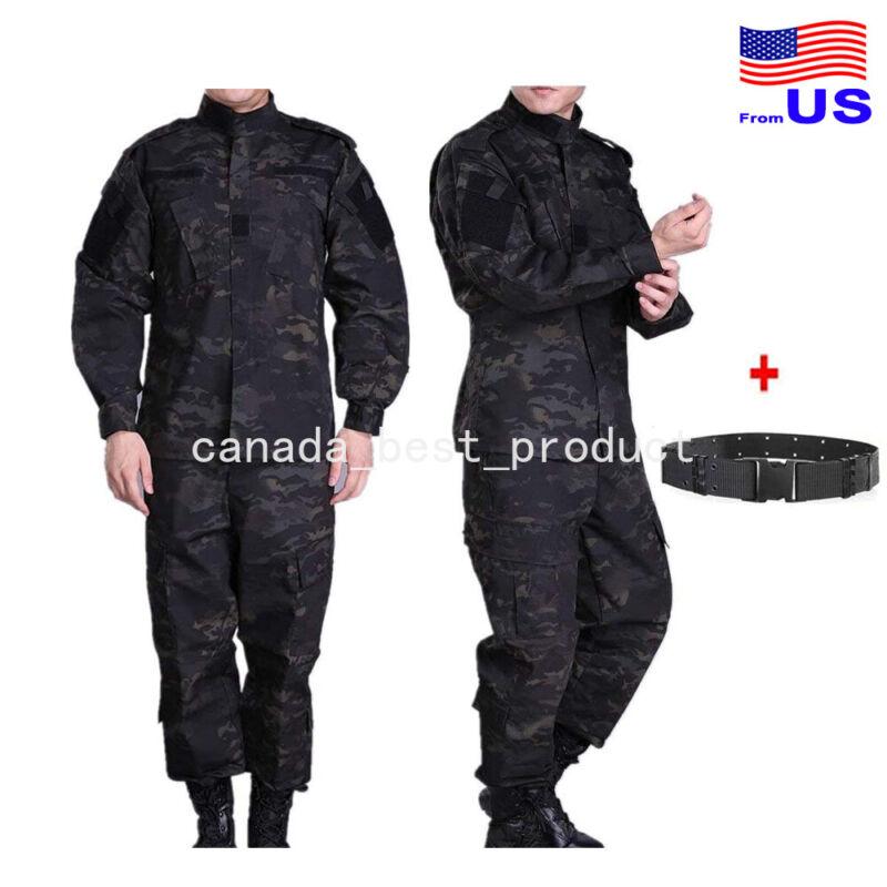 Men Tactical Military BDU Combat Uniform Jacket Shirt & Pants Suit MCBK USA