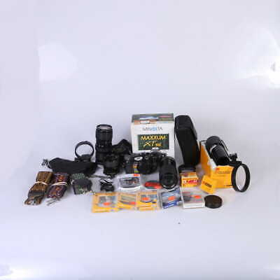 Lot of Assorted 35mm Cameras, Lenses, and Accessories (Film Photography) - (AI)