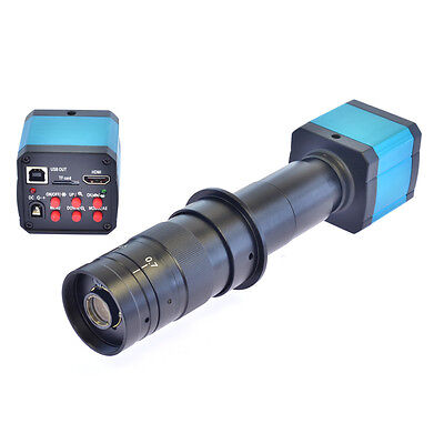 14mp Tv Hdmi Usb Industry Digital C-mount Microscope Camera Tf Card 180x Lens