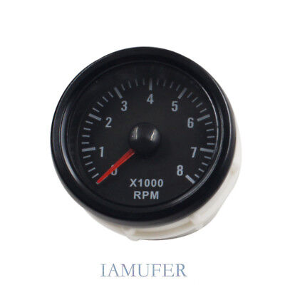 LED Elec 2'' 52mm Rev Tacho Gauge Meter Tachometer 0-8000 RPM Car Motor