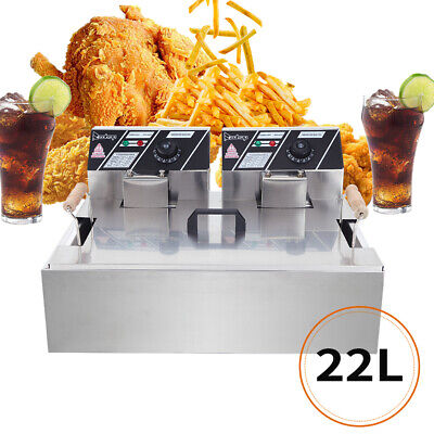 Commercial 5000w Stainless Steel One Large Tank Electric Countertop Deep Fryer