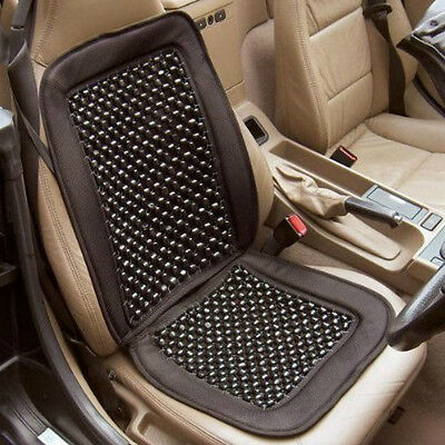 Universal Beaded Car Van Lorry Seat Cushion Comfy Massage Back Wooden Bead Cover