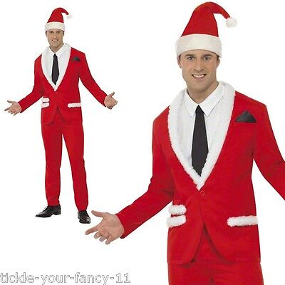 Men's Santa Cool Stand Out Fancy Dress Costume Suit Christmas Stag Football Fun  - Cool Superhero Suits