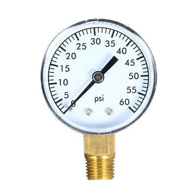 0~60psi Mechanical Water Air Pressure Gauge Meter with 50mm Dial Q2J5