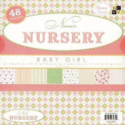 (EUR 3,80/m²) Papierblock DCWV Nana's Nursery Baby Girl