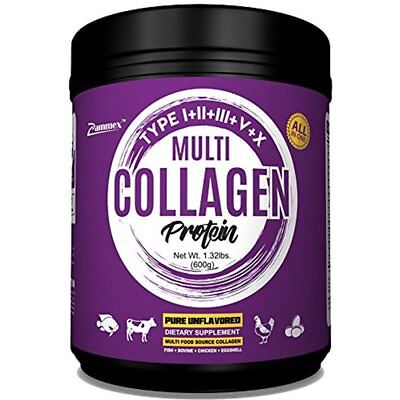Multi-Collagen Protein Powder 21oz Best Value High-Quality Blend Of Grass-Fed (Best High Quality Protein Powder)