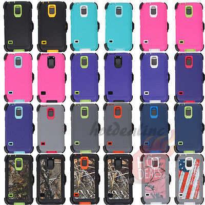 For Samsung Galaxy S5 Defender Case (Belt Clip Fits Otterbox)
