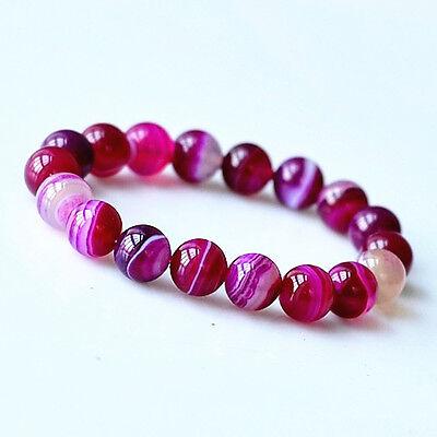 Feng Shui handmade agate gemstone beads bracelet for protection-p