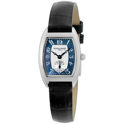 Frederique Constant Art Deco Blue Dial Leather Strap Ladies Watch FC235APB1T26