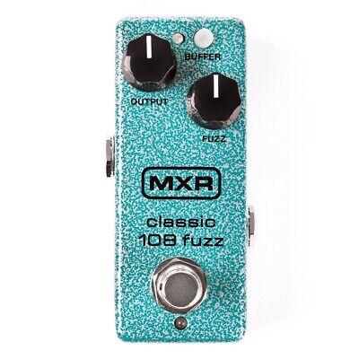 MXR M296 Classic 108 Fuzz Mini Guitar Effects Pedal w/ Silicon BC-108 Transistor