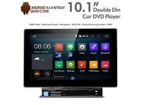 "10.1"" Android TouchScreen Double Din Car Stereo With DVD Player SatNav USB SD Aux & Screen Mirroring"
