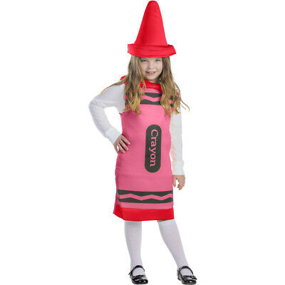 Kids Red Crayon Costume By Dress up America (Red Crayon Kostüme)