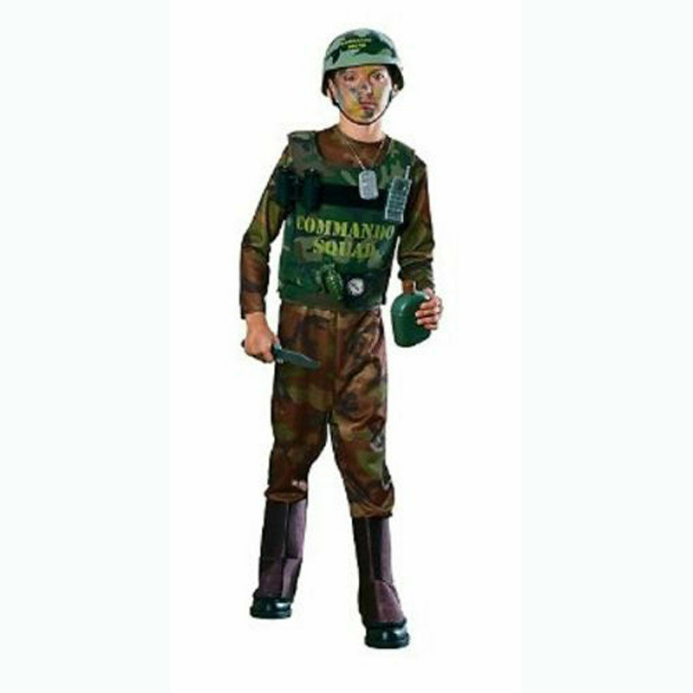TOY COMMANDO KIT 9-PIECES PRETEND PLAY SET Helmet Vest Accessories Army Soldier