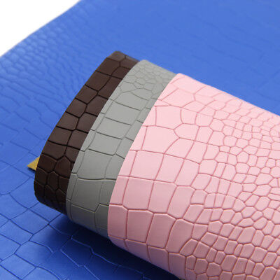 A4 Crocodile TextureFaux Vinyl Leatherette Fabric SheetsDIY HandmadeBow Craft