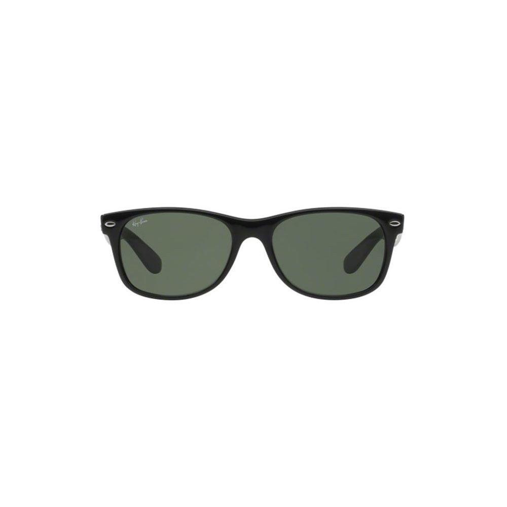 6c0035aa5efc Ray-Ban RB2132 Wayfarer Unisex Sunglasses with Black Frame and Green ...