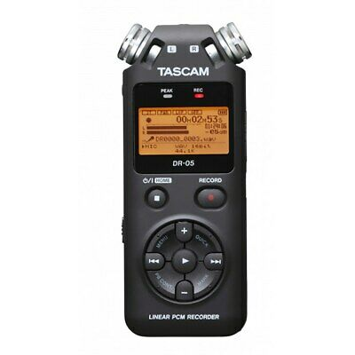 Tascam DR-05 Version 2 24-Bit/96kHz Handheld Portable Digital Recorder Black v2