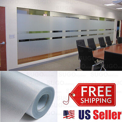 "36""x6FT Frosted Privacy Static Home Decoration Window Door Glass Tint Film Sheet"