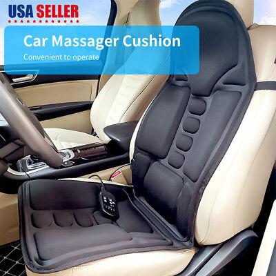 Lumbar Massage Cushion - Heated Back Massage Seat Cushion Car Seat Chair Lumbar Neck Pad Massager Heater