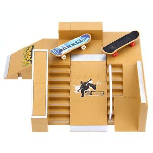 5Piece/Set Skate Park Kit Ramp Parts Tech Deck Finger Board Ultimate Sport Props