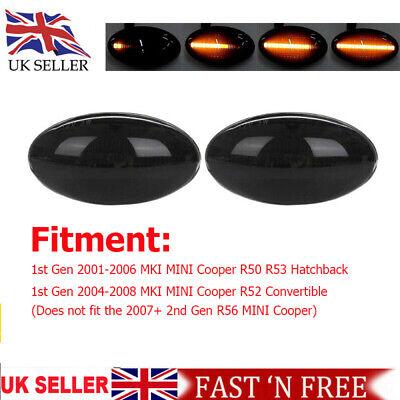 For Mini Cooper S JCW R50 R53 R52 MKI LED Side Indicator Repeater Light Dynamic