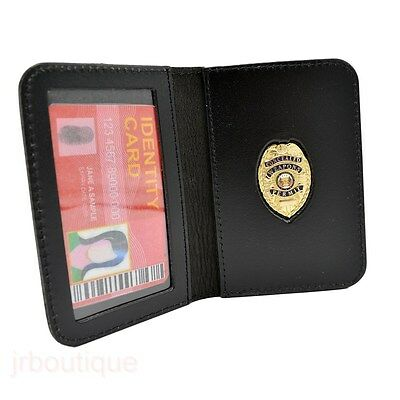 CWP CCW Concealed Weapons Carry Permit Mini Badge Leather Wallet Case Novelty