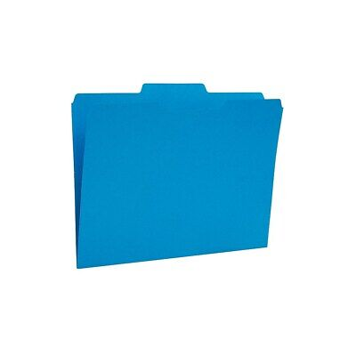 Staples Colored Top-tab File Folders 3 Tab Blue Letter Size 24pack 659787