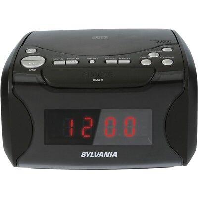 SYLVANIA Sylvania Usb-charging Cd Dual Alarm Clock Radio