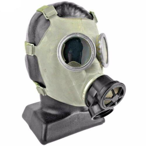 Polish MC-1 Military Gas Mask 40mm Nuclear Biological Protection size Medium NEW