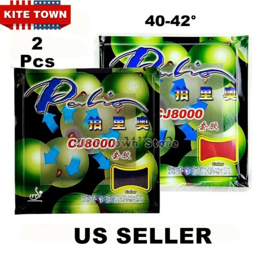 2X Palio CJ8000 Table Tennis Ping Pong Racket  Pips-in Rubbers 2.2mm/ 40-42° New