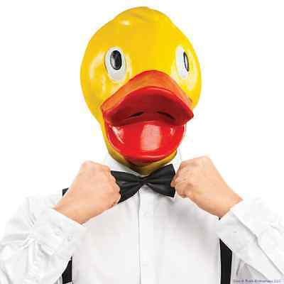 Rubber Ducky Face Duck Mask ~ Latex Halloween Costume Party Gag - BigMouth